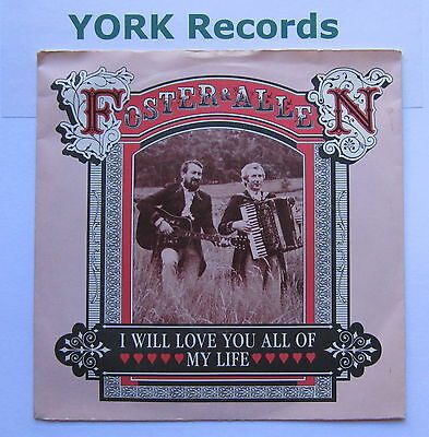 "FOSTER & ALLEN - I Will Love You All Of My Life - Ex Con 7"" Single Ritz RITZ 056"