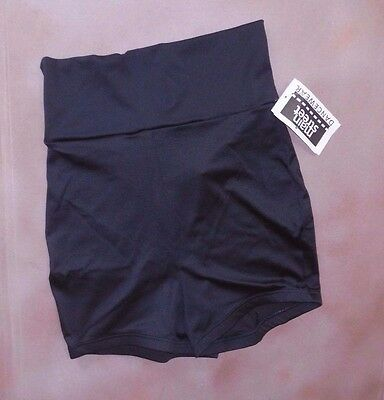 NWT Boy cut wide waist trunks booty shorts matte spandex Many Colors ch//lady szs
