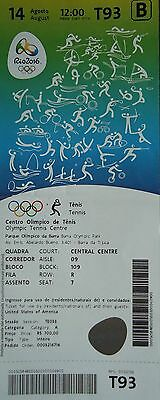 TICKET A 14.8.2016 Olympia Rio Tennis Finale Men's Gold Andy Murray GB # T93