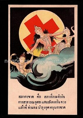 8 x SIAM Thailand ASSORTED RED CROSS POSTCARDS (Full Set ?) Excellent Condition