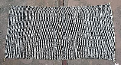 "Authentic Navajo Older Twill Saddle Blanket (Rug) 23"" x 44"""