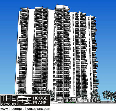 The Croquis House Plans- Model BTS-1 Breezes of The Sea Apartment Building Tower