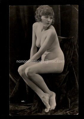 FRENCH NUDE NU NAKED WOMAN Vintage REAL PHOTO POSTCARD E20C NU18