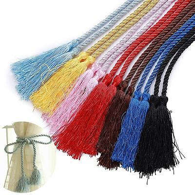 "Thick Quality Plain Rope Tassel Tieback 56"" Long Decorative Holdback For Curtain"