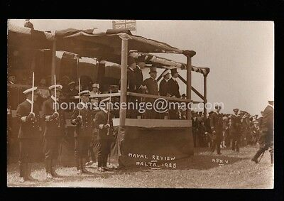 Malta Naval Review Real Photo Postcard 1925 Ma16