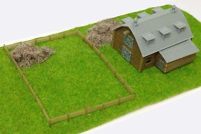 Outland Models Train Railway Layout Country Barn with Straw & Grass N Scale