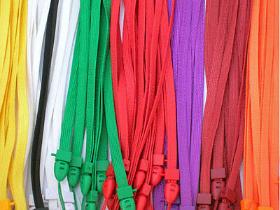 Wholesale Lot 100 pcs Flat Neck Straps for Mobile Cell Phone ID Tag Lanyard