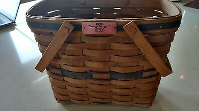 Longaberger 1986 VIP Club Basket - Very RARE - Great condition FREE SHIPPING!