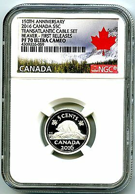 2016 Canada Silver Proof 5 Cent Nickel Ngc Pf70 Ucam .9999 First Releases