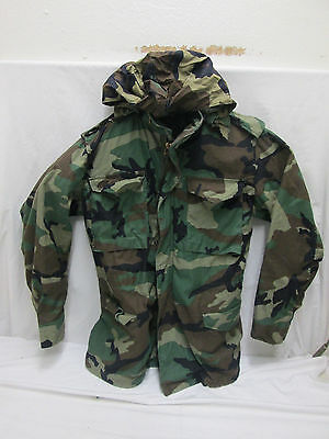 US Army Woodland Camo BDU Field Jacket, M65, **Short-Regular** ,