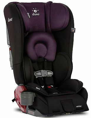Diono Rainier Black Plum Convertible Booster Folding Child Safety Car Seat NEW