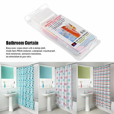 Fabric Bathroom Shower Curtain Liner Polyester waterproof With Hooks 150*150cm