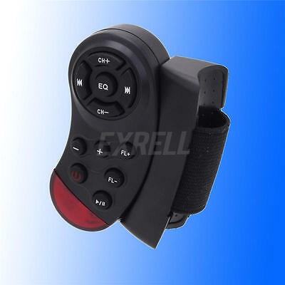 1pc Black Infrared Car Steering Wheel Bluetooth Multifunctional Remote New