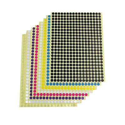 6mm Round 10 Colour Dot Sticker Circle Sticky Self Adhesive Label