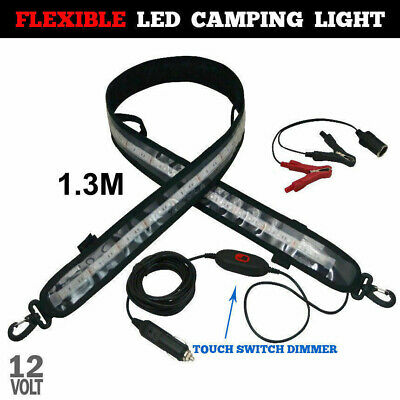 1.3M LED Camping Light Flexible 5050 SMD Strip Caravan Boat Waterproof 12V