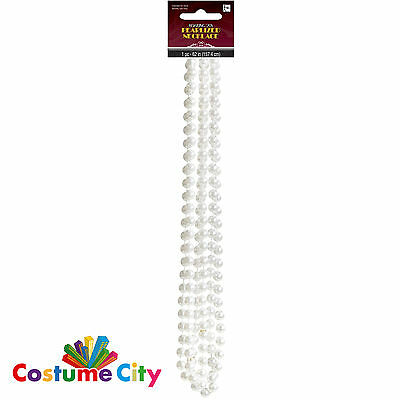 Womens Ladies 1920s Flapper Pearl Necklace 20s 30s Fancy Dress Costume Accessory