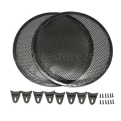 2PCS Metal 12 inch Black Subwoofer Protection Car Audio Speaker Cover Grill Mesh