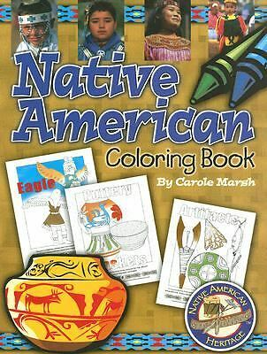 Native American Heritage Coloring Book - New Paperback Book