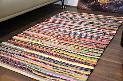 100% Cotton Chindi Rug Area Rag Rugs Floor Mat Small Extra Large Indian Handmade
