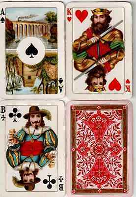 w10490. Dondorf No 133 Playing Cards with Scenic Aces 1930