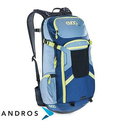 EVOC FR TRAIL 20l - backpack back protector Turquoise Man