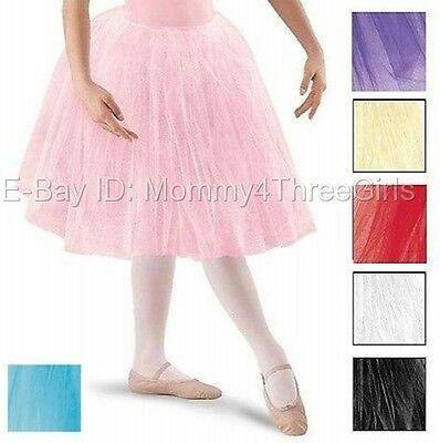 New Ballet Dance Long Romantic TuTu Costume Skirt Many Colors Child & Adult Size