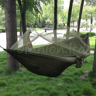 Camping Hammock Jungle Mosquito Tent Hiking Army Military Light- Parachute Nylon