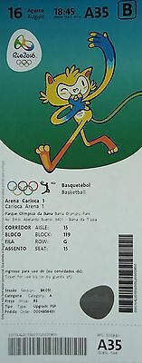 TICKET M 16.8.2016 Olympia Rio Basketball Women's USA - Japan # A35