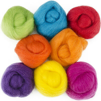"""Wool Roving 12"""" .25oz 8/Pkg-Fiesta"""