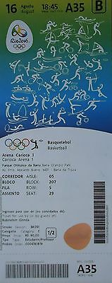 TICKET A 16.8.2016 Olympia Rio Basketball Women's USA - Japan # A35