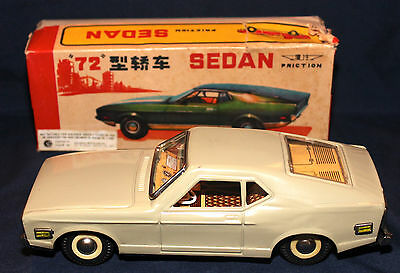 Original 1972 China Friction Ford Mustang Mach 1 Fastback with Box MF 198