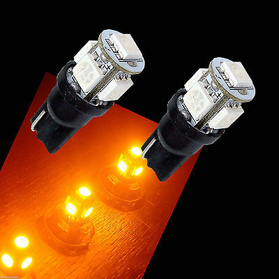 50 x T10 194 168 5SMD 5050 LED Car Motor Auto Side Signal Light Bulbs AMBER