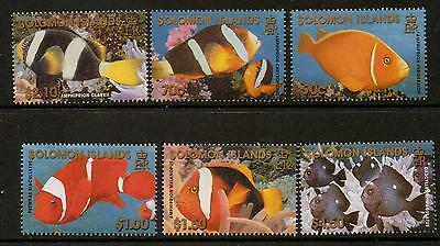 Solomon Islands Sg996/1001 2001 Reef Fish  Mnh