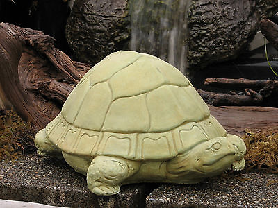 "LARGE TORTOISE TURTLE 16.5"" Garden CEMENT STATUE Home Yard Decor Concrete"