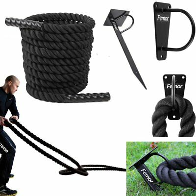 38mm x 9/12/15m Battle Rope Trainingseil Schlagseil Schlangenseil Fitness Rope