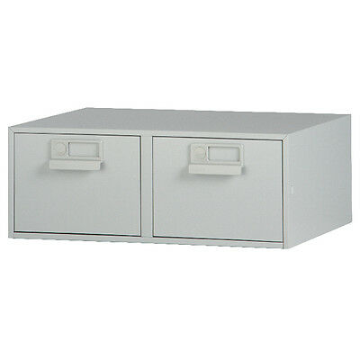 Bisley 8x5 Inches Double Grey Card Index Cabinet FCB25