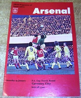 1976/77 FA CUP 4TH ROUND - ARSENAL v COVENTRY CITY