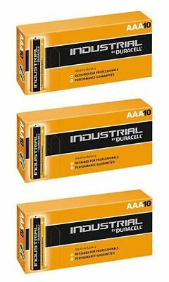 30 X Duracell AAA Industrial MN2400 Battery Alkaline Replaces Procell Long Exp