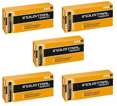 50 X Duracell AAA Industrial MN2400 Battery Alkaline Replaces Procell Long Exp