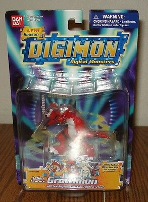 Bandai Digimon Growlmon Action Figure -Free Combined Shipping-See Photos
