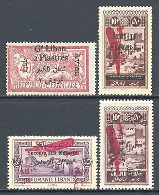 Lebanon Grand Liban 1924-1927 Airmails Avion Selection Mint $51.50
