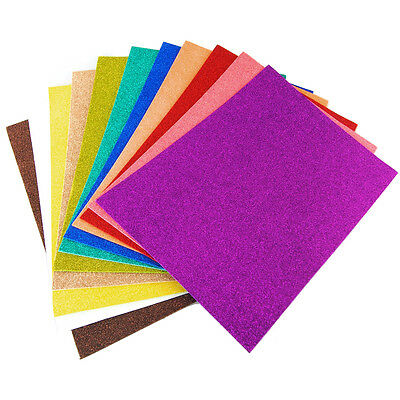 "Glitter EVA Foam Sheets Arts and Crafts, 13""x18"", 9""x12"", 10-Piece"