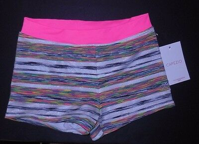 NWT Capezio Boy Cut Shorts 10699C SUPERNOVA hotpink waist girls sizes bootyshort