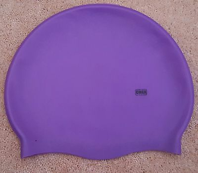 CHEX Grade A Stretchy Silicone Swimming Purple Hat Junior Approx 3-7 Years