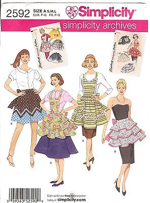 Apron PATTERN 1950s vintage Repro Simplicity 2592 New June Cleaver style Retro