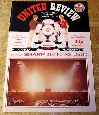 1984/85 LEAGUE CUP 2ND ROUND - MANCHESTER UNITED v BURNLEY - 26 SEPTEMBER 1984