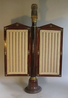 Museum-Quality FRENCH EMPIRE Gilt Bronze Mahogany Two-Panel Fire Screen  c. 1830
