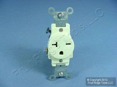 Leviton Almond COMMERCIAL Single Outlet Receptacle NEMA 6-20R 20A 250V 5821-A