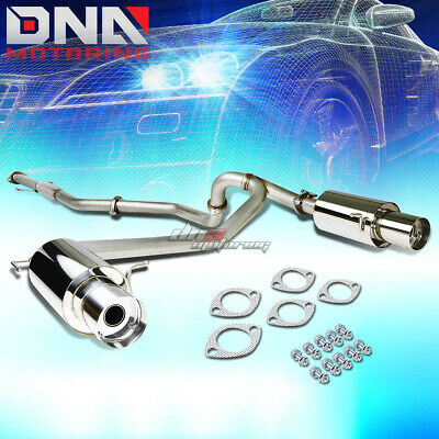 "For 02-08 Hyundai Tiburon Gk 2.0 L4 Dual 4""tip Stainless Exhaust Catback System"