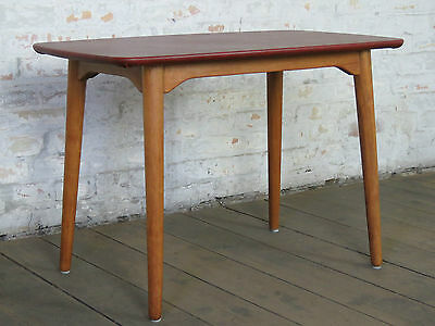 Mid Century 50s 60s Danish Modern Sofa Coffee Couch Side Table Retro Vintage L
